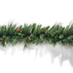 Full and thick, our cordless Grand Majestic Wreaths and Garlands offering convenient, cord-free holiday decorating. Brimming with lifelike cedar, sweeping  longleaf pine, Douglas fir, Scotch pine, and genuine pinecones, the greenery glows with clear and cool LED lights anywhere you want, indoors and outside.        Battery-operated, super-bright LED lights sparkle with diamond-like clarity against the beautifully verdant greenery                LED lights are long-lasting and energy…