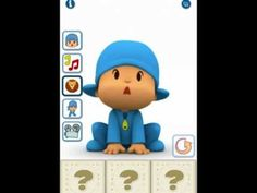 Talking Pocoyo!  To Cute! Repeats all, dances,plays instruments and you can record all to save and share later!