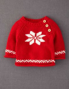 the large snowflake is an example of intarsia knitting, the hem bands are stranded