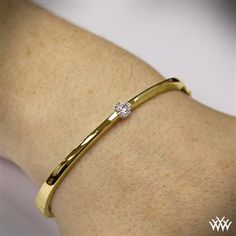 Diamond Solitaire Bangle