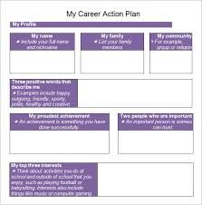Personal Profile Template For Students Word Career Planning
