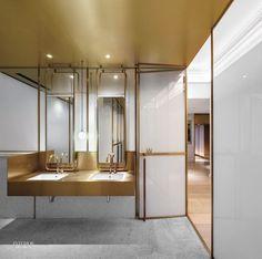 New Bathroom Design Commercial Interiors Ideas Apartment Bathroom Design, Bathroom Vanity Designs, Bathroom Interior Design, Bathroom Ideas, Small Bathroom, Bathroom Baskets, Mirror Bathroom, Bathroom Layout, Bathroom Lighting