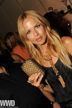 Gold Spiked Clutch. Gold Rope necklace.