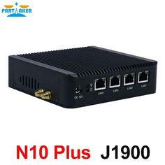 159.20$  Buy now - Partaker N10 Plus home server mini pc j1900 quad core CPU 4 intel lan firewall vpn router support linux pfsense OS and 3G/4G  #shopstyle
