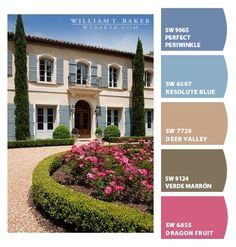 Paint colors from ColorSnap by Sherwin-Williams Roof Colors, House Colors, Colours, Pink Brown, Blue Grey, Gray, Brown House, Brown Paint, Exterior Paint Colors
