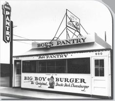 Big Boy Restaurants began in 1936 with this Bob's Pantry in Glendale, California.