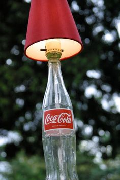 Items similar to Classic Coke (Coca Cola) Bottle Lamp on Etsy Glass Coke Bottles, Tequila Bottles, Coca Cola Bottles, Vintage Coca Cola, Coke Bottle Crafts, Coca Cola Decor, Always Coca Cola, Christmas Crafts To Make, Christmas Ornaments