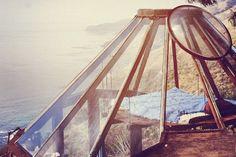 Glass yurt by Mickey Muennig. Big Sur. 1974