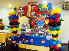 Superheroes Birthday Party Ideas | Photo 3 of 5 | Catch My Party