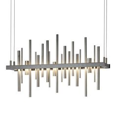 Cityscape LED Linear Suspension Light by Hubbardton Forge - Color: Grey - Finish: Dark Smoke - Linear Chandelier, Pendant Chandelier, Gold Pendant, Led Pendant Lights, Pendant Lighting, Light Pendant, Dark Smoke, Modern Lighting, Lighting Ideas