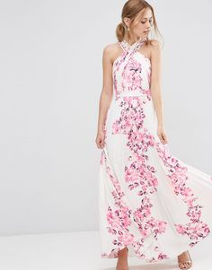 ASOS+Cross+Over+Floral+Pleated+Maxi+Dress only size 16 left