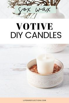 Yes it can be done - soy wax votive DIY candles. Here's how I did it!