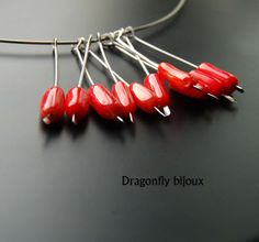 handmade red coral necklace http://dragonflysjewelry.blogspot.cz/