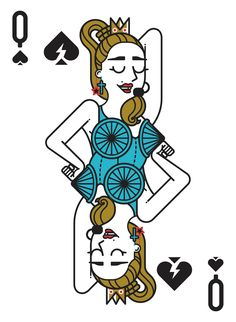 I work on graphic design and illustration based motion graphics projects, for advertising, broadcast and social networks. Playing Card Tattoos, Playing Cards Art, Deck Of Cards, Card Deck, Unicorn Dust, Queen Of Spades, Card Drawing, Music Pics, Flower Frame
