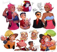 Cartoon As Anime, Cartoon Shows, Cartoon Art, Wonder Over Yonder, Skeleton Dance, Fandom Crossover, Cartoon Crossovers, Pretty Art, Character Design Inspiration