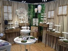 Lotus Jewelry Studio Booth. I love all of the natural wood and the whole setting in this display.