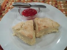 Simple Sweet Scones from Food.com:   This is a simple perfectly delicious recipe my mom used to make for our family. It origioually came from a biscuits and scones recipe book, this one was always my favorite of all the recipes.