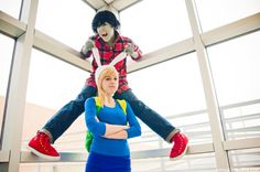 Fionna and Marshall Lee- i REAL just wanna cosplay as fionna. now i just need a marshall lee...