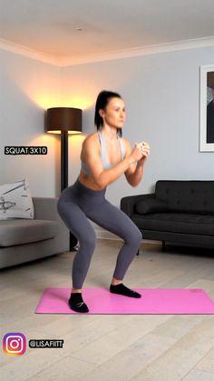 Tone Up Workouts, Killer Leg Workouts, Leg Day Workouts, Easy Workouts, At Home Workouts, Leg Workout At Home, Basic Workout, Dumbbell Workout, Butt Workout