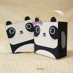 Cute Panda Giftbox Printable PDF