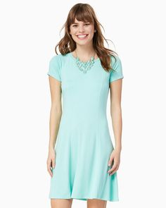 charming charlie | Maddy Fit and Flare Dress | UPC: 100207877 #charmingcharlie