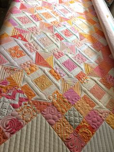 My quilty friends and I seem to always have a swap of some sort going on. Shortly after we finished our plus block. Machine Quilting Patterns, Quilting Templates, Longarm Quilting, Free Motion Quilting, Quilt Patterns, Quilting Ideas, Modern Quilting, Quilting Projects, Nancy Zieman