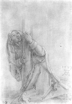 Albrecht Dürer ~ St. Magdalena, Study from the 'Great Crucifixion', 1523