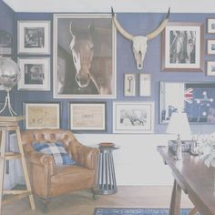 I'm loving this inspiration from the @gregnatale guest house project.  The blue and white with rich colors of caramel are so warm and inviting!  The equestrian touches are divine!  #guesthouse #blueandwhite #wood #leather #caramel #equistriandecorgoals #brisbane #interiordesign #townandcountry #rotd #downunder #inspiration #arielleandarcher