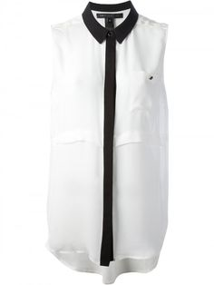 monochrome sleeveless blouse