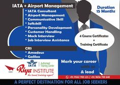 #IATA + #Airport Management Course Study at #RiyaInstitute. Visit our website for more details.