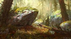 Forest, Veli Nyström on ArtStation at https://www.artstation.com/artwork/PEKAy