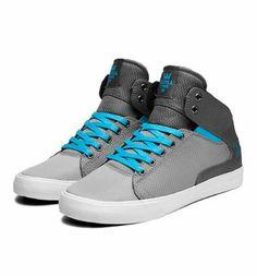 Grey/white/turquoise supras