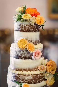Rocky Mountain Bride V2 New Mexico // El Monte Sagrado via Rocky Mountain Bride // Naked wedding cake // @RenegadeFloral @heritagehtls @a_swan