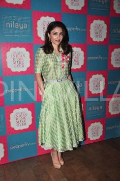 Spotted: Soha Ali Khan looks royal in green at a promotional event! | PINKVILLA