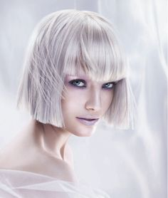 Gorgeous super-light blonde pastel by Matrix/COLORINSIDER Sheer Pastels series. Three shades delicately applied to thin panels of hair. Lovely! #Matrix