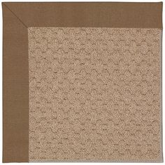 Capel Zoe Grassy Mountain Machine Tufted Cafe/Brown Area Rug Rug Size: Round 12' x 12'