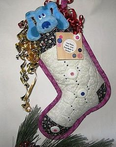 Christmas Stocking Personalize with your picture in attached frame - Handmade