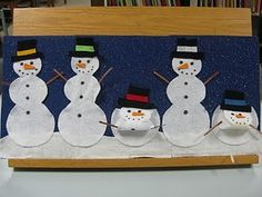 Five Snowmen (with melting action!) Flannel Board Stories, Felt Board Stories, Felt Stories, Flannel Boards, Snowman Fingerplays, Snow Theme, Winter Theme, Snowmen At Night, Winter Crafts For Kids