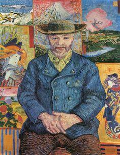 Vincent Van Gogh, Portrait of Père Tanguy, Autumn 1887. Oil on canvas, 92 x 75 cm. Musée Rodin, Paris.
