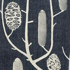 Screen Printed Fabric - Banksia - Nicola Cerini