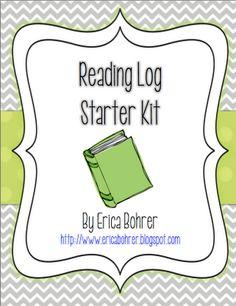 Erica Bohrer's First Grade: Reading Logs & FREE Reading Log Starter Kit