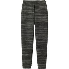Toast Jersey Trouser ($230) ❤ liked on Polyvore featuring pants, grey marl, gray pants, straight leg pants, striped pants, jersey pants and pocket pants