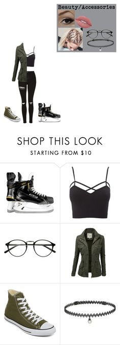 """""""Ice Skating Date #6"""" by queen26yassy on Polyvore featuring Charlotte Russe, J.TOMSON, Converse, BERRICLE, Lime Crime and plus size clothing"""