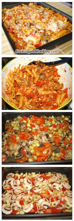 Baked Penne with Vegetables Recipe