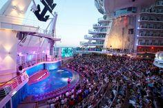 Enjoy a dazzling show at our Aqua Theater onboard #AllureoftheSeas #OasisoftheSeas #RoyalCaribbean