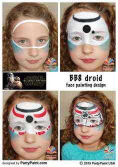 Star Wars the force awakens face painting design