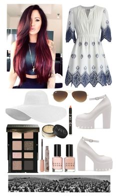 """A DAY IN HOLLYWOOD"" by zara1515 ❤ liked on Polyvore featuring Chicwish, Ray-Ban, Bobbi Brown Cosmetics, NARS Cosmetics and Paul & Joe"