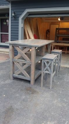 Do It Yourself Kitchen Island | Easy Street Breakfast Bar | Do It Yourself Home Projects from Ana ... #HomeBarDecor