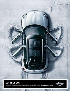 Let it snow, let it snow, let it snow. MINI ad.