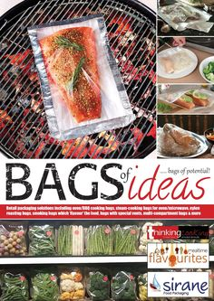 Bags of Ideas from Sirane food packaging. Browse all our cooking bag solutions, including oven, microwave, BBQ, slow-cooker and more.